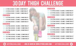 30 day thigh challenge fitgirlcode community for fit and healthy
