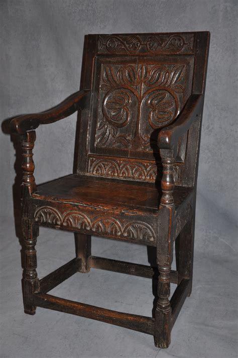 Wainscot Chair by Early 17th Century Oak Wainscot Chair La45143