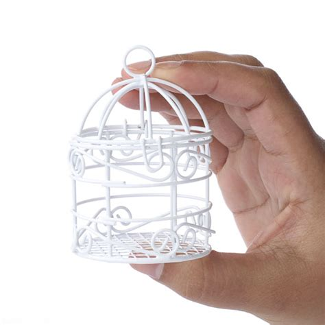 miniature wire bird cage birds butterflies
