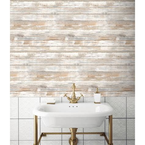 distressed wood home decor 28 18 sq ft distressed wood peel and stick wall decor