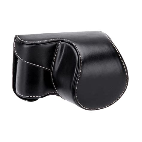 Tutup Lensa Sony A5000 jual universal leather for sony alpha a5000 or a5100 hitam harga kualitas