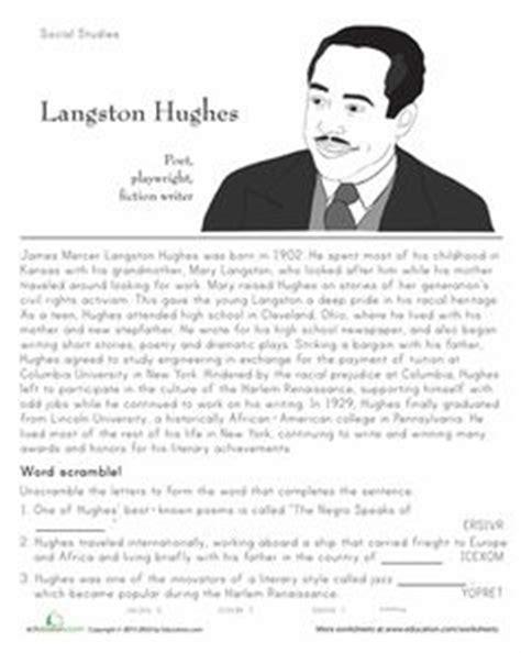 langston hughes printable biography barack obama biography printable on super teacher