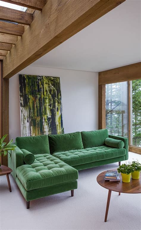 modern green velvet sofa best 25 green sofa ideas on emerald green