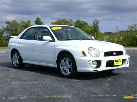 subaru sedan white 2002 aspen white subaru impreza 2 5 rs sedan 18567080