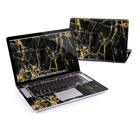Macbook Pro Touchbar Aufkleber by Macbook Pro Retina 15in Skin Black Gold Marble By Marble
