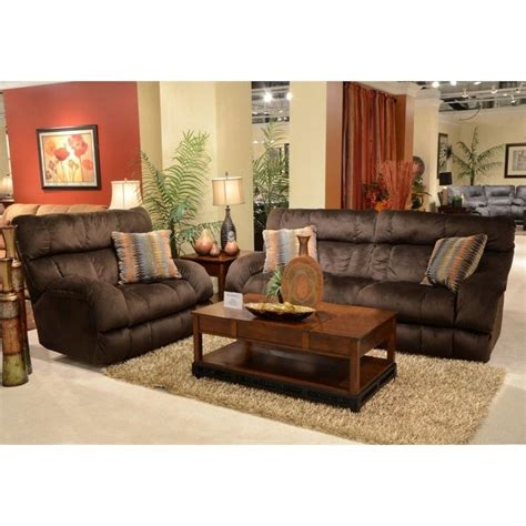 catnapper siesta lay flat reclining fabric sofa set in