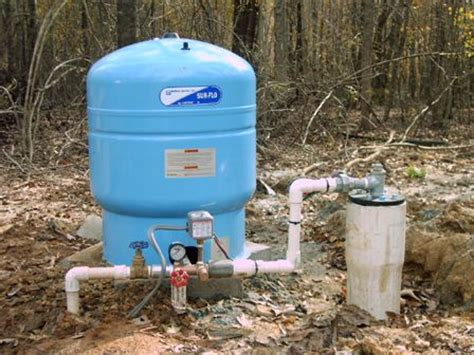 Water Tank For Well Pump This Is A Typicaldeep Well Pump Set Up 1hp Submersible