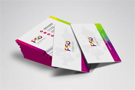 colorful business card template psd 300 best free business card psd and vector templates