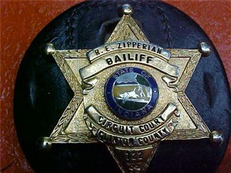 Indiana Circuit Court Search Original Obsolete Bailiff Circuit Court Clinton County Indiana Badge No 722 Ebay