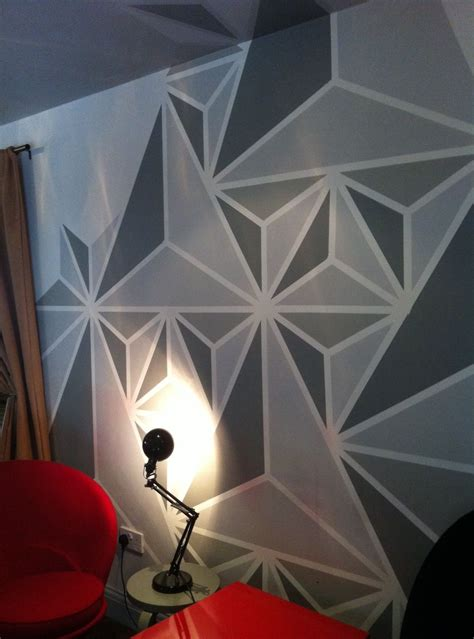 wall pattern with paint what colour to paint geometric update walls bar and