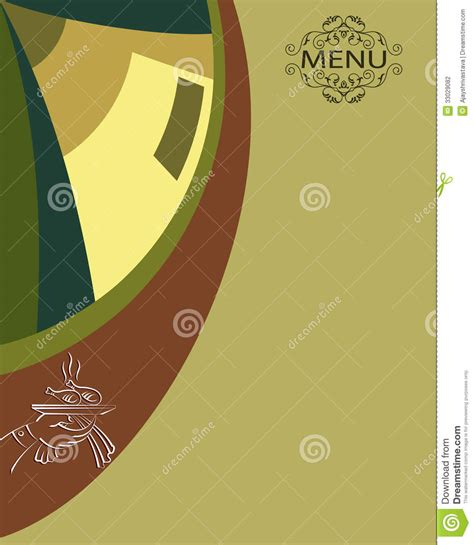 hotel menu card template free menu card design template stock illustration image of