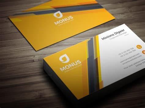 awesome card templates awesome corporate business card design template 001585