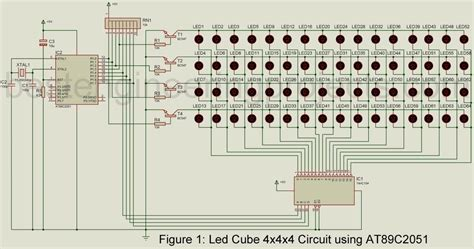 led cube xx circuit  atc engineering projects