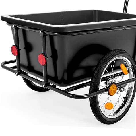 Black Bpan035 Metropolitan 1 bike trailer transport pneumatic tire cargo bicycle shopping cart wagon black ebay