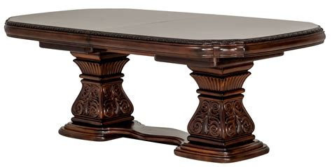 pedestal rectangle dining table villagio pedestal rectangular dining table from