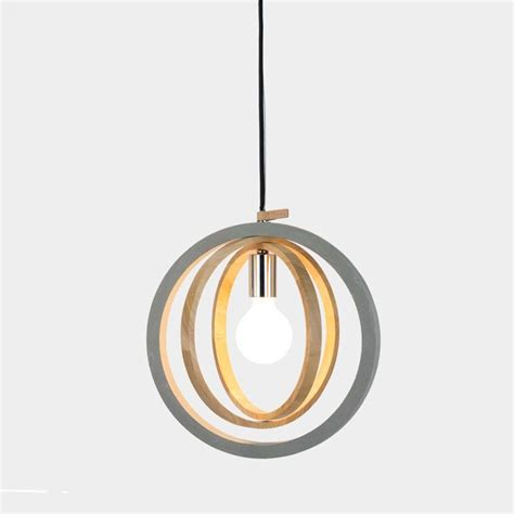 Circular Pendant Light Timber Circular Concrete Pendant Light