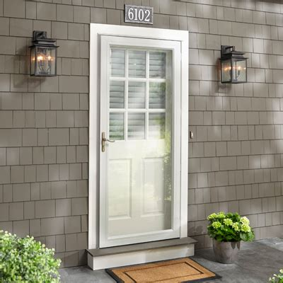 front door with window exterior doors at the home depot