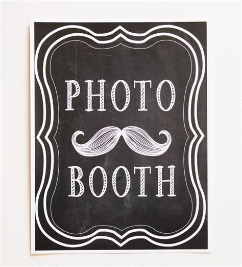 photo booth sign template free printed chalkbaord photo booth sign photo booth by