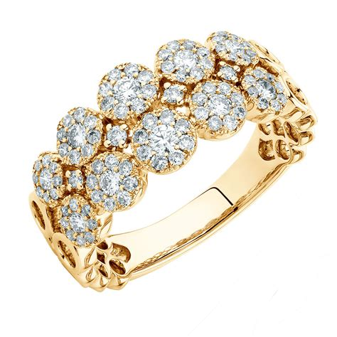 d gold ring ring with 3 4 carat tw of diamonds in 10kt yellow gold