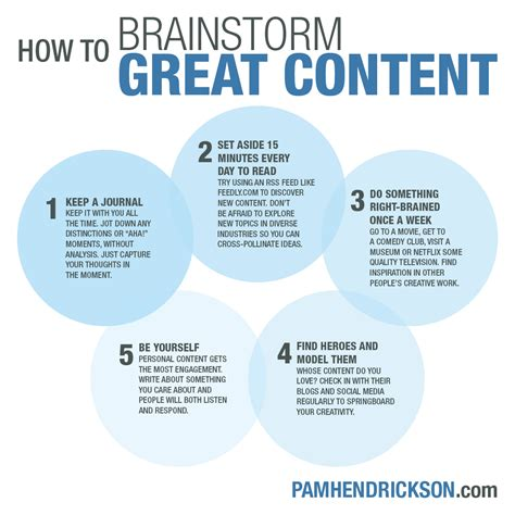 how to your to come to you graphic my favorite ways to brainstorm outstanding content pam hendrickson