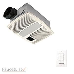 quiet bathroom exhaust fan with heater broan qtx110hflt quiet bathroom ceiling ventilation