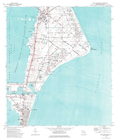 port canaveral map florida cape canaveral topographic map fl usgs topo 28080d5