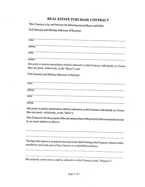 agreement template between two brilliant real estate purchase contract form template