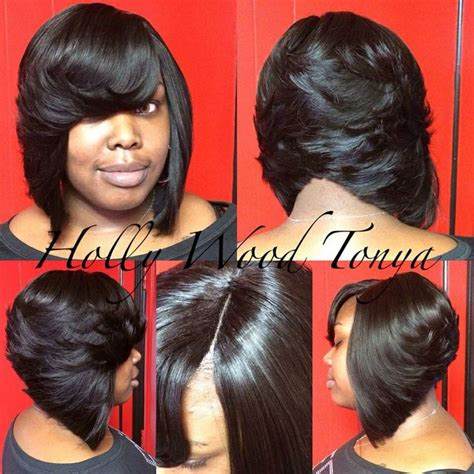 layered bob sew in hairstyles for black women for older women 17 best ideas about feathered bob on pinterest black bob