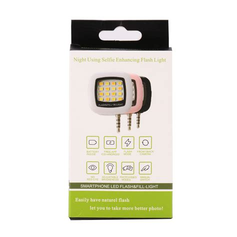 Lu Selfie Flash Light Led 16 Universal Smartphone Android Iphone portable 16 led selfie flash fill flash light for samsung