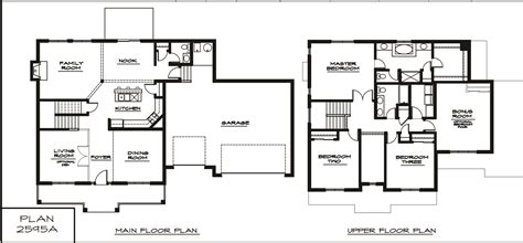 two story floor plans two story house plans home design ideas with two story