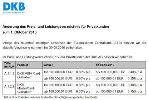 dkb bank zinsen ank 252 ndigung einer zinssenkung bei der dkb f 252 r oktober 2016