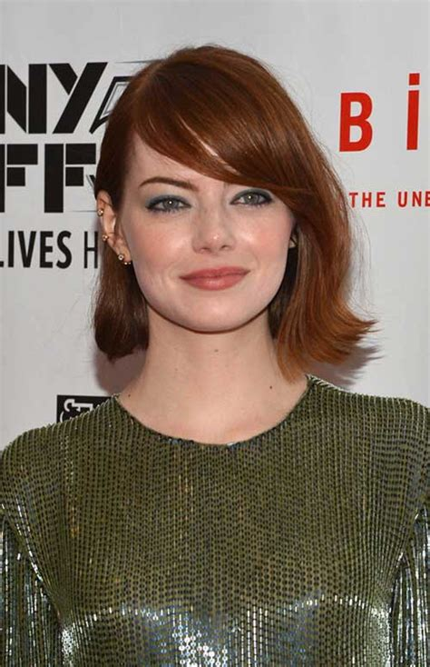 emma stone short hair bob styles for round faces short hairstyles 2017 2018
