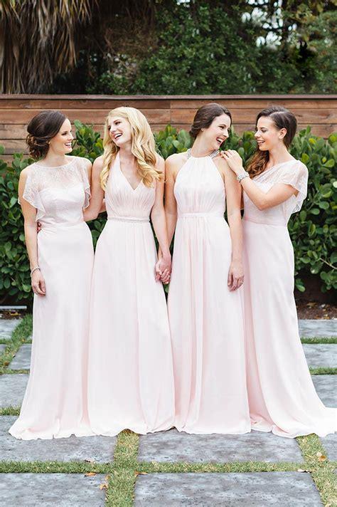 different color bridesmaid dresses mismatched bridesmaid dress styles david s bridal