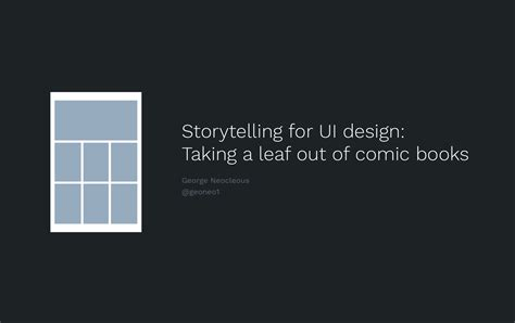design is storytelling books storytelling for ui design taking a leaf out of comic