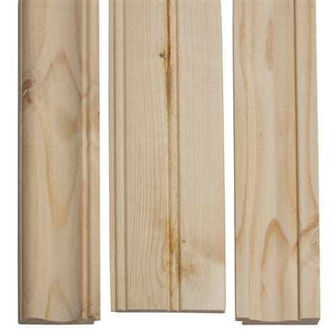 pine beadboard planks shop evertrue 32 ft pine edge and center bead wainscot at