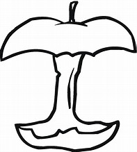 Bitten Apple Coloring Page Images