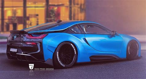 bmw i8 slammed tuning liberty walk bmw i8