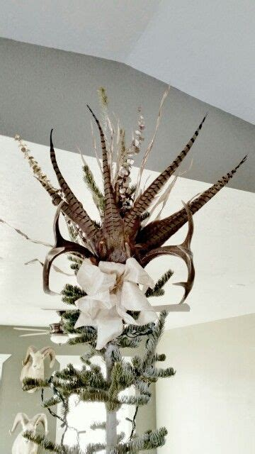 pheasant deer antler tree topper christmas pinterest