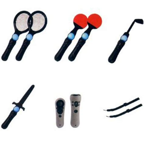 Sports Pack Equipment Transforms Your Controller Into A Tennis Racket Golf Club And Steering Wheel by Playstation 3 Move 12 In 1 Sport Pack