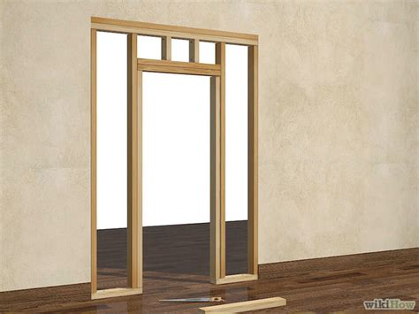 Framing An Interior Wall With A Door How To Frame A Door Opening 13 Steps With Pictures Wikihow