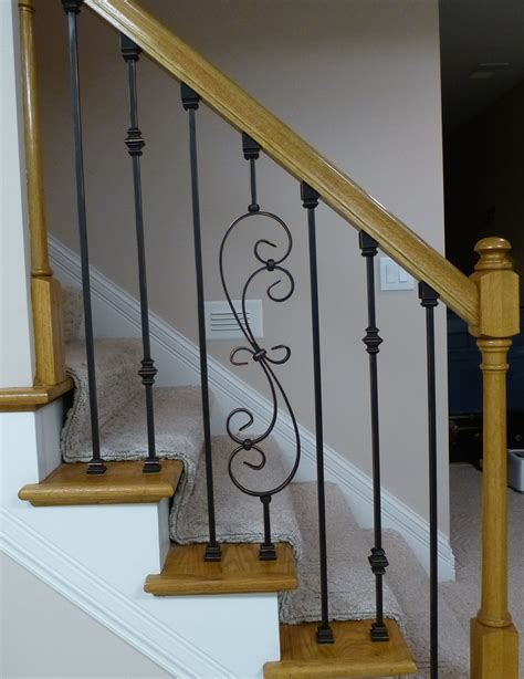 banisters and spindles replacing wooden stair balusters spindles with wrought