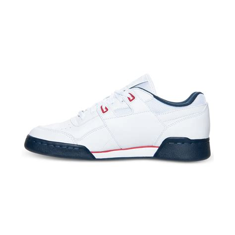 workout sneakers reebok workout plus casual sneakers in white for lyst