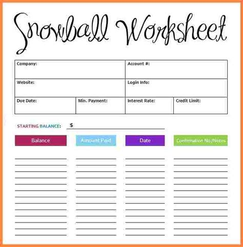 debt spreadsheet template 6 debt snowball spreadsheet template budget spreadsheet