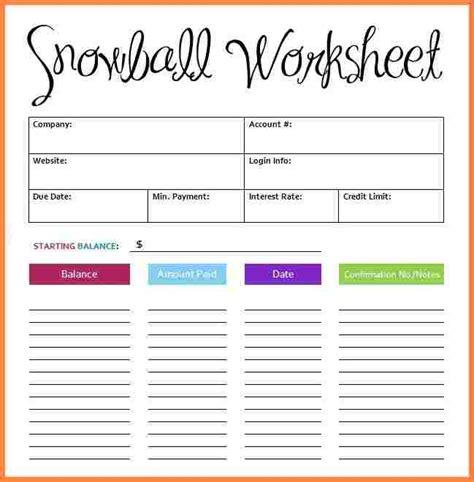 Debtors Credit Application Template 6 debt snowball spreadsheet template budget spreadsheet