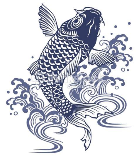 tattoo carpe koi noir et blanc japanese carp stock illustration thinkstock