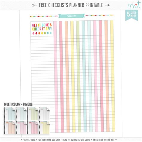 printable planner pages free free checklists planner page printables