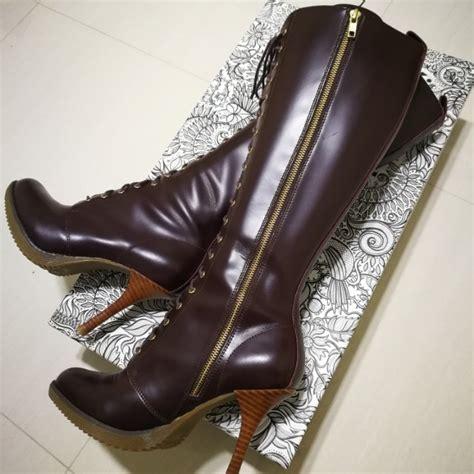 doc martens high heel boots doc martens gilda knee length high heel boots oxblood
