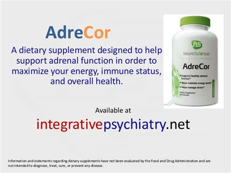 Mba Tricare Supplement Change Form by Integrative Psychiatry S Adrecor By Neuroscience