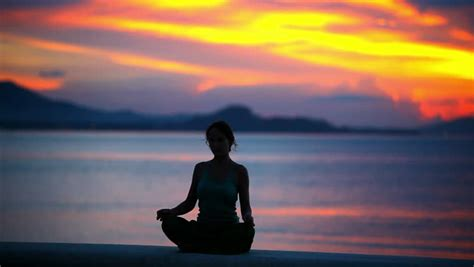beautiful meditation meditation meditating at sunset or