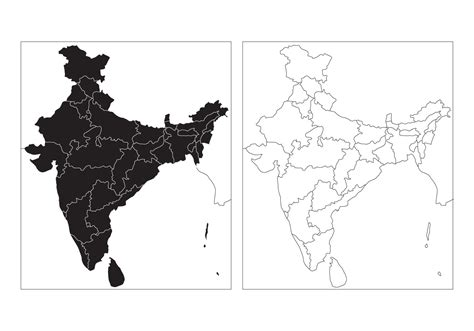 free state map of india vector download free vector art